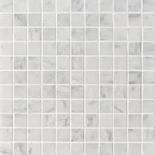 1x1 bianco white carrara marble square pattern polished mesh