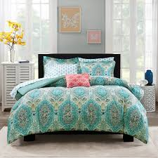 bedroom fabulous twin xl bed in a bag coral bedding sets solid