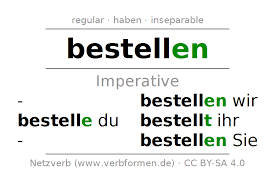 si e de table imperative bestellen order all tables exles and