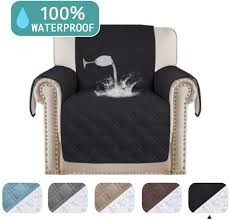 Turquoize 100% Waterproof Chair Covers Chair Slipcover Waterproof Furniture  Protector Non-Slip Chair Covers Armchair Slipcover Chair Protector Machine  ...
