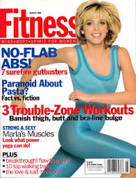 Fitness Magazine Cover Full Spread