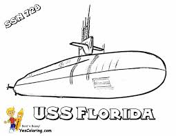 Submarine Printout Of USS Florida At YesColoring