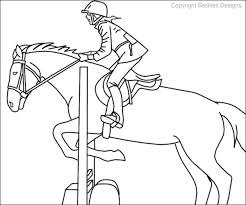 21 Horse Jumping Coloring Pages 3885 Via Staslxyz