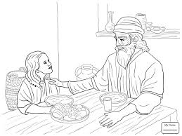 Coloring Pages For Kids Christianity Bible Queen Esther Before King Ahasuerus