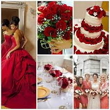 Colors For June Wedding Elegant Red And Blue