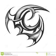 Nail Art Tribal Design Clipart Library Clip Tattoo Stock Vector