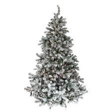 75 Flocked Slim Christmas Tree by Pre Lit Flocked Christmas Tree Wayfair