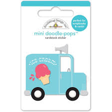100 Ice Cream Truck Products Sunkissed DoodlePops Embellished 3D Stickers