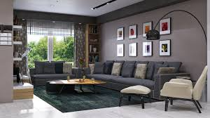 Living Room Modern Villa In Dammam By Mokhles Mohamed Ideas Grey Sofa Saln Con Paredes Grises