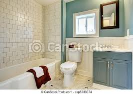 blaues badezimmer klassisch remodeled neu weißes tile