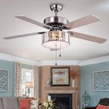 Brushed Nickel Ceiling Fan With Gray Blades by 50 60 Inches Ceiling Fans Shop The Best Deals For Dec 2017