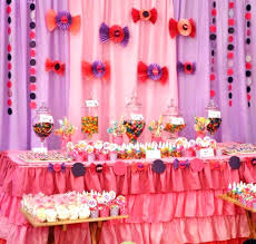 Brilliant Birthday Table Decor Pink Purple Ideas Ations Enjoyable Outdoor Kids Y With Green Plus Simple Decoration Pictures