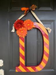 24 Paper Mache Letters Inch Maringcheacute Striped Letter Wreath