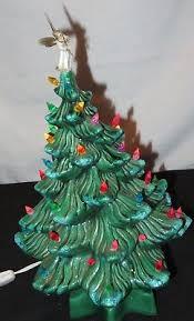 Ceramic Christmas Tree Light Vintage Lighted Mid Century Modern Angel M171