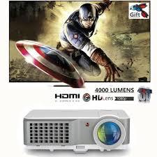 100 Bright Home Theater EUG X760 High 4000 Lumen HD 1080P Video TV Projector HDMI SD