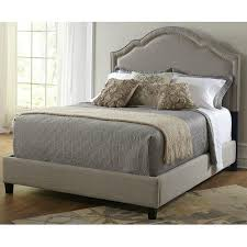 Amazon Upholstered King Headboard by Amazon Com Pulaski Patterson Upholstered Bed Shaped Nailhead