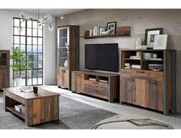 expendio wohnzimmer set cedric spar set 5 tlg wood vintage braun mit couchtisch mit hochklappbarer tischplatte