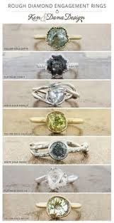 A Rough Or Uncut Diamond Engagement Ring Lends Unique And Rustic Look To An