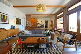 jarrah wood with mid century modern sofa living room midcentury