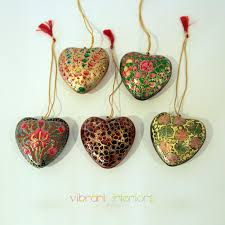 Pack Of 5 Heart Xmas Ornaments | Vibrant Interiors Intresting Homemade Christmas Decor Godfather Style Handmade Ornaments Crate And Barrel Japanese Tree Photo Album Home Design Ideas Decorations Modern White Trees Decorating Designs Luxury Lifestyle Amp Value 20 Homes Awesome Kitchen Extraordinary Designer Bed Bedroom For The Pack Of 5 Heart Xmas Vibrant Interiors Orange Accsories Living Room How To Make Wreath With Creative