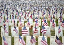 Memorial Day Graveside Decorations by Funeral For 13 000 Andersonville National Historic Site U S