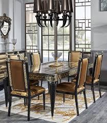 casa padrino luxus barock esszimmer set gold schwarz 1