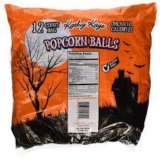 Utz Halloween Pretzels Nutrition Information by Amazon Com 12 Count Bag Popcorn Balls Sweet U0026 Salty Halloween