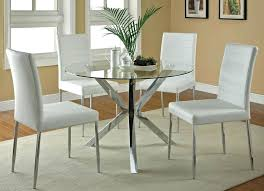 Round Glass Dining Room Table Popular Of Sets All