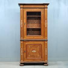 Antique South German Walnut Display Cabinet