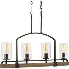 progress lighting grove collection 4 light vintage bronze linear
