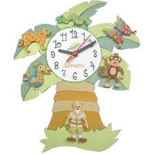 horloge chambre bébé décoration murale chambre enfant jungle billes de clowns