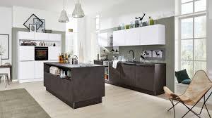 interliving küche serie 3011 mit siemens einbaugeräten zement anthrazit weiß dreizeilig
