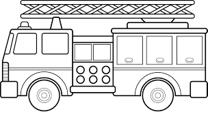 How To Draw A Cartoon Fire Truck Fire Truck Clipart Black And White ...