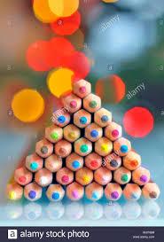 Colorful Pencils As Christmas Tree