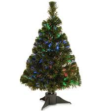 3 Fiber Optic Tabletop Christmas Tree by National Tree Company 2 Ft Battery Operated Fiber Optic Ice Tree