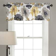 Yellow And Grey Bathroom Window Curtains by Amazon Com Lush Decor Leah Room Darkening Window Curtain Valance