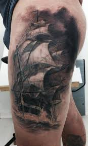 Unsinkable Ships Sink Tattoo by Ship At Stormy Sea Tat Design Ink Pinterest Stormy Sea