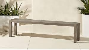 Beautiful Long Dining Bench At Matera Large Grey Reviews CB2