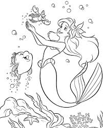 Ariel Coloring Sheets Free Princess Pages Games Mermaid Colouring Little For Kids Printable