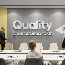 Quality Is Our Business Plan Motivational Wall Art Home Office