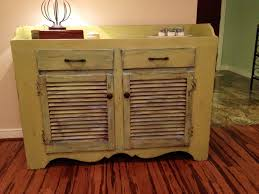 Chalk Paint Distressed Cabinet Furniture With Shutter Doors And Drawers Adorable Ideas