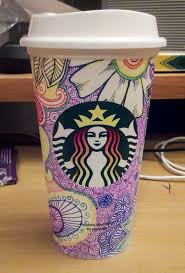 Starbucks Coffee Cup Drawing Design Mug Elegant