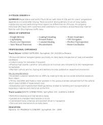 Sample Resume Truck Driver Of Delivery For Parts