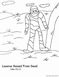 Lazarus Coloring Page Printable