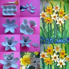 86 Best Flower Arts Crafts Images On Pinterest Inside Art And Craft Ideas For Making Flowers