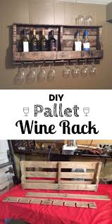 50 Beautiful Rustic Home Decor Project Ideas You Can Easily DIY Build An Easy Pallet Wine Rack For Industry Standard Design