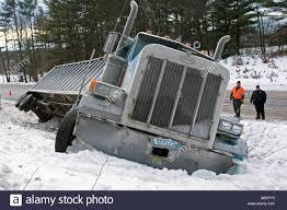 Semi Trucks Stuck Snow