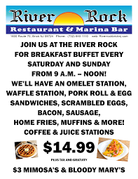 Wharfside Patio Bar Schedule by River Rock Restaurant And Marina Bar