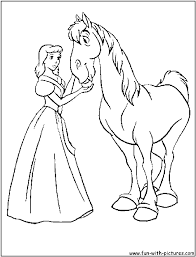 Cinderella And Horse Coloring Pages