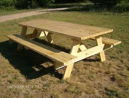picnic table plans easy to build ebay